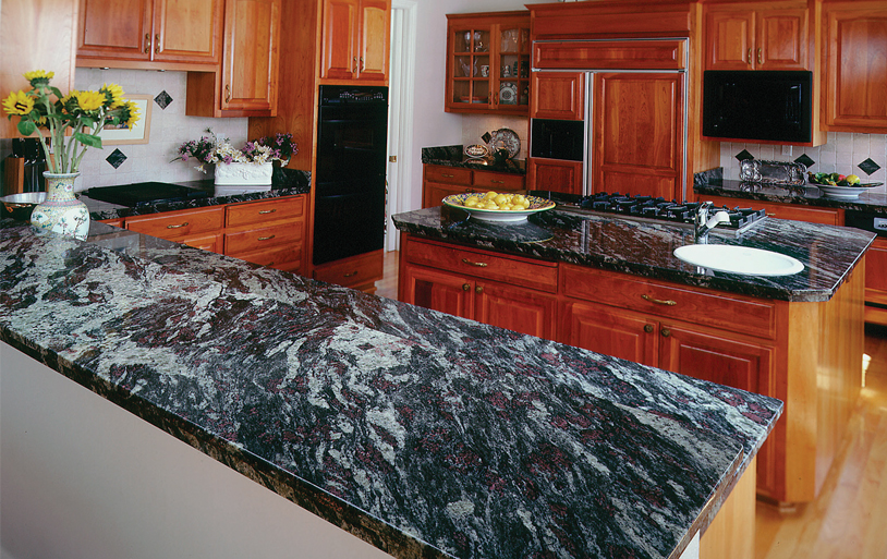 Black Granite Countertops : Granite kitchen countertops inspiration gallery