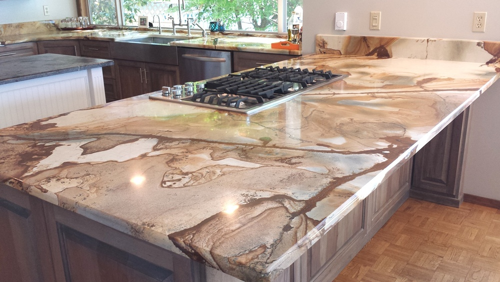 Charmant Sea Peal Quartzite Kitchen Countertops
